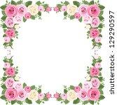Vintage Roses Frame. Vector...