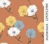 blossom floral seamless pattern ... | Shutterstock .eps vector #1292911984