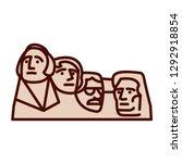 vector cartoon mount rushmore... | Shutterstock .eps vector #1292918854