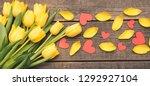 a bouquet of fresh  beautiful... | Shutterstock . vector #1292927104