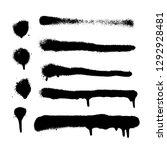 vector spray paint texture.... | Shutterstock .eps vector #1292928481