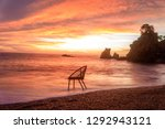 art photo with a chair at... | Shutterstock . vector #1292943121