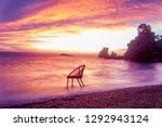 art photo with a chair at... | Shutterstock . vector #1292943124