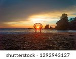 art photo with a chair at... | Shutterstock . vector #1292943127