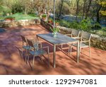 outdoor dining furniture set... | Shutterstock . vector #1292947081