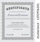 grey certificate of achievement ... | Shutterstock .eps vector #1292956201