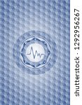electrocardiogram icon inside... | Shutterstock .eps vector #1292956267
