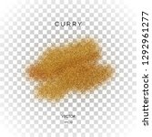 vector curry powder isolated on ... | Shutterstock .eps vector #1292961277