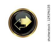 arrows icon on black with gold... | Shutterstock .eps vector #129296135