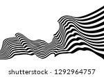 black and white curved line ... | Shutterstock .eps vector #1292964757