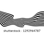 black and white curved line ... | Shutterstock .eps vector #1292964787
