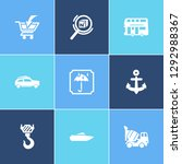 transportation icon set and... | Shutterstock .eps vector #1292988367