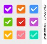 confirm symbols set with retro... | Shutterstock .eps vector #129299969