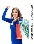 portrait of young happy smiling ... | Shutterstock . vector #129300605