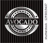 avocado silver emblem or badge   Shutterstock .eps vector #1293015637