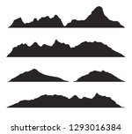 mountains silhouettes on the... | Shutterstock .eps vector #1293016384