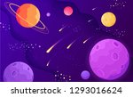 color open space planets  stars ... | Shutterstock .eps vector #1293016624