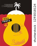 beach party invitation design... | Shutterstock .eps vector #1293018124
