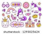 castle  magic unicorns  kitten  ... | Shutterstock .eps vector #1293025624