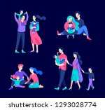 family spend time together ... | Shutterstock .eps vector #1293028774