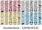 mega pack of retro embroidered... | Shutterstock .eps vector #1293029131