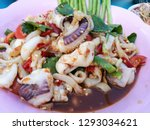 seafood spicy salad  som tum... | Shutterstock . vector #1293034621