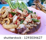 seafood spicy salad  som tum... | Shutterstock . vector #1293034627