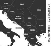 political map of balkans  ... | Shutterstock .eps vector #1293035524