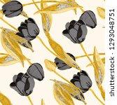 spring floral seamless pattern... | Shutterstock . vector #1293048751