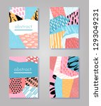 abstract colorful collage... | Shutterstock .eps vector #1293049231