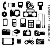icon  with  electronic gadgets. ...   Shutterstock .eps vector #129305051