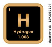hydrogen element from the... | Shutterstock .eps vector #1293051124
