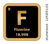 fluorine element from the... | Shutterstock .eps vector #1293051151