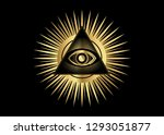 sacred masonic symbol. all... | Shutterstock .eps vector #1293051877