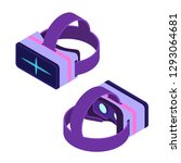 isometric virtual reality... | Shutterstock . vector #1293064681