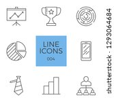 business related line icons set.... | Shutterstock . vector #1293064684