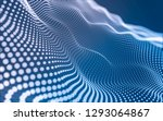 abstract polygonal space low... | Shutterstock . vector #1293064867
