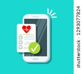 received email sms notification.... | Shutterstock .eps vector #1293077824