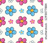 colorful seamless pattern with... | Shutterstock .eps vector #1293077884