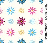 colorful seamless pattern with... | Shutterstock .eps vector #1293077887