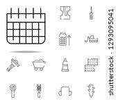 calendar icon. construction...