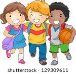 Illustration Of Kid Students A...