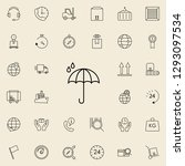 raindrop icon. logistics icons... | Shutterstock .eps vector #1293097534