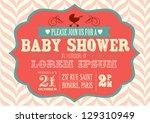 baby shower invitation template vector/illustration | Shutterstock vector #129310949
