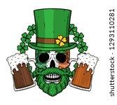 skull. irish skull. the skull... | Shutterstock .eps vector #1293110281