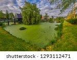 zaandam  holland  an old mill... | Shutterstock . vector #1293112471