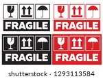 fragile handle with care...   Shutterstock .eps vector #1293113584