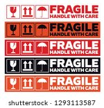 fragile handle with care...   Shutterstock .eps vector #1293113587