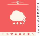 cloud thunderstorm lightning... | Shutterstock .eps vector #1293119611