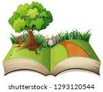 open book nature landscape... | Shutterstock .eps vector #1293120544